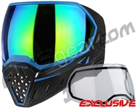 Empire EVS Paintball Mask - Black/Blue w/ Green Mirror Lens
