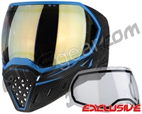 Empire EVS Paintball Mask - Black/Blue w/ HD Gold Lens