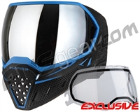 Empire EVS Paintball Mask - Black/Blue w/ Silver Mirror Lens