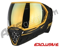 Empire EVS Paintball Mask - Black/Gold w/ Mirror Gold Lens