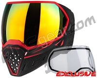 Empire EVS Paintball Mask - Black/Red w/ Fire Lens