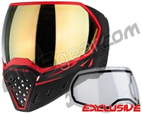Empire EVS Paintball Mask - Black/Red w/ Gold Mirror Lens