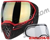 Empire EVS Paintball Mask - Black/Red w/ HD Gold Lens