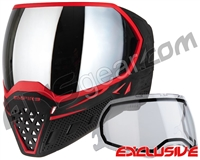 Empire EVS Paintball Mask - Black/Red w/ Silver Mirror Lens