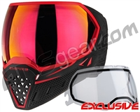 Empire EVS Paintball Mask - Black/Red w/ Sunset Lens