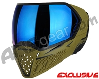 Empire EVS Paintball Mask - Olive/Black w/ Blue Mirror Lens