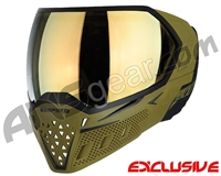 Empire EVS Paintball Mask - Olive/Black w/ Gold Mirror Lens