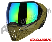 Empire EVS Paintball Mask - Olive/Black w/ Green Mirror Lens