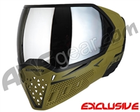 Empire EVS Paintball Mask - Olive/Black w/ Silver Mirror Lens