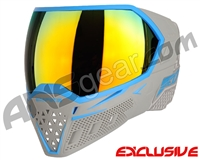 Empire EVS Paintball Mask - Grey/Cyan w/ Fire Lens