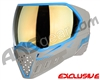 Empire EVS Paintball Mask - Grey/Cyan w/ Gold Mirror Lens