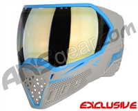 Empire EVS Paintball Mask - Grey/Cyan w/ HD Gold Lens