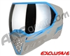 Empire EVS Paintball Mask - Grey/Cyan w/ Silver Mirror Lens