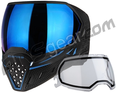 Empire EVS Paintball Mask - SE Blue Bottom/Black Frame w/ Blue Mirror Lens
