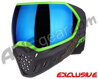 Empire EVS Paintball Mask - SE Weave Lime w/ Blue Mirror Lens