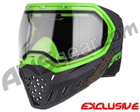 Empire EVS Paintball Mask - SE Grey Weave Bottom/Lime Frame w/ Clear Lens