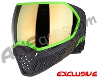 Empire EVS Paintball Mask - SE Weave Lime w/ Gold Mirror Lens
