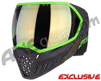 Empire EVS Paintball Mask - SE Weave Lime w/ HD Gold Lens
