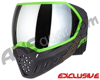 Empire EVS Paintball Mask - SE Weave Lime w/ Silver Mirror Lens