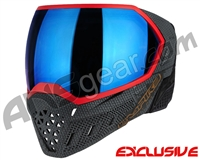 Empire EVS Paintball Mask - SE Weave Red w/ Blue Mirror Lens