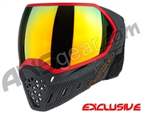 Empire EVS Paintball Mask - SE Weave Red w/ Fire Lens