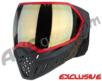 Empire EVS Paintball Mask - SE Weave Red w/ HD Gold Lens