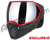 Empire EVS Paintball Mask - SE Weave Red w/ Silver Mirror Lens