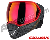 Empire EVS Paintball Mask - SE Grey Weave Bottom/Red Frame w/ Sunset Lens