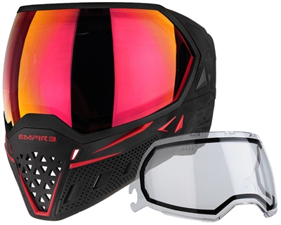 Empire EVS Paintball Mask - SE Red Bottom/Black Frame w/ Sunset Lens