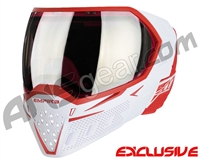 Empire EVS Paintball Mask - White/Red w/ HD Black Chrome Lens