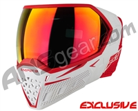 Empire EVS Paintball Mask - White/Red w/ Sunset Mirror Lens