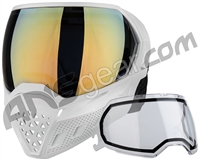 Empire EVS Paintball Mask - White/White w/ Gold Mirror & Clear Lenses (21720)