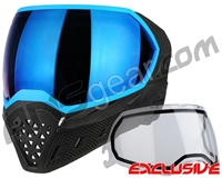 Empire EVS Paintball Mask - Stealth/Blue with Blue Mirror Lens