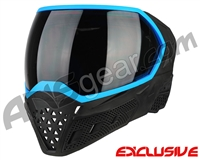 Empire EVS Paintball Mask - Stealth/Blue with Smoke Lens