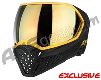 Empire EVS Paintball Mask - Stealth/Gold w/Gold Mirror Lens