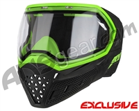 Empire EVS Paintball Mask - Stealth/Lime with Clear Lens