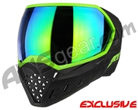 Empire EVS Paintball Mask - Stealth/Lime w/Lime Mirror Lens