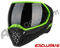 Empire EVS Paintball Mask - Stealth/Lime with Smoke Lens