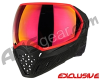 Empire EVS Paintball Mask - Stealth/Red w/Red Mirror Lens
