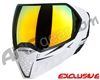 Empire EVS Paintball Mask - White/Black w/ Fire Lens