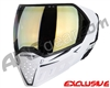 Empire EVS Paintball Mask - White/Black w/ HD Gold Lens
