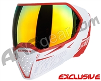 Empire EVS Paintball Mask - White/Red w/ Fire Lens