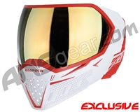 Empire EVS Paintball Mask - White/Red w/ Gold Mirror Lens
