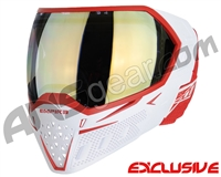 Empire EVS Paintball Mask - White/Red w/ HD Gold Lens
