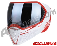 Empire EVS Paintball Mask - White/Red w/ Silver Fade Lens