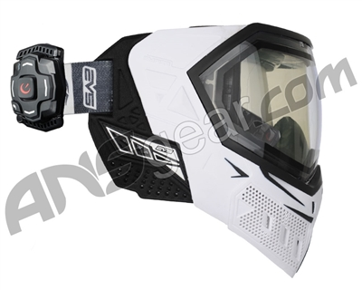 Empire EVS Paintball Mask w/ Recon HUD - White/Black