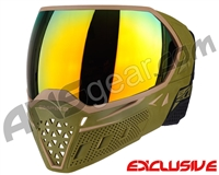 Empire EVS Paintball Mask w/ Additional Lens - Olive/Tan w/ Fire Lens