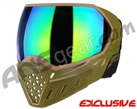 Empire EVS Paintball Mask w/ Additional Lens - Olive/Tan w/ Green Mirror Lens