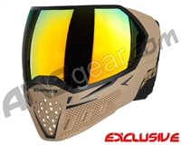 Empire EVS Paintball Mask w/ Additional Lens - Tan/Black w/ Fire Lens
