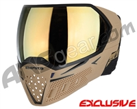 Empire EVS Paintball Mask w/ Additional Lens - Tan/Black w/ Gold Mirror Lens